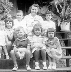 Una Puckett & family, 1938